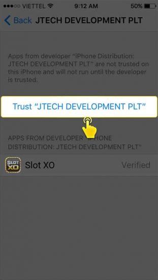 ขั้นตอนที่ 7 วิธีติดตั้ง SLOTXO บน iOS